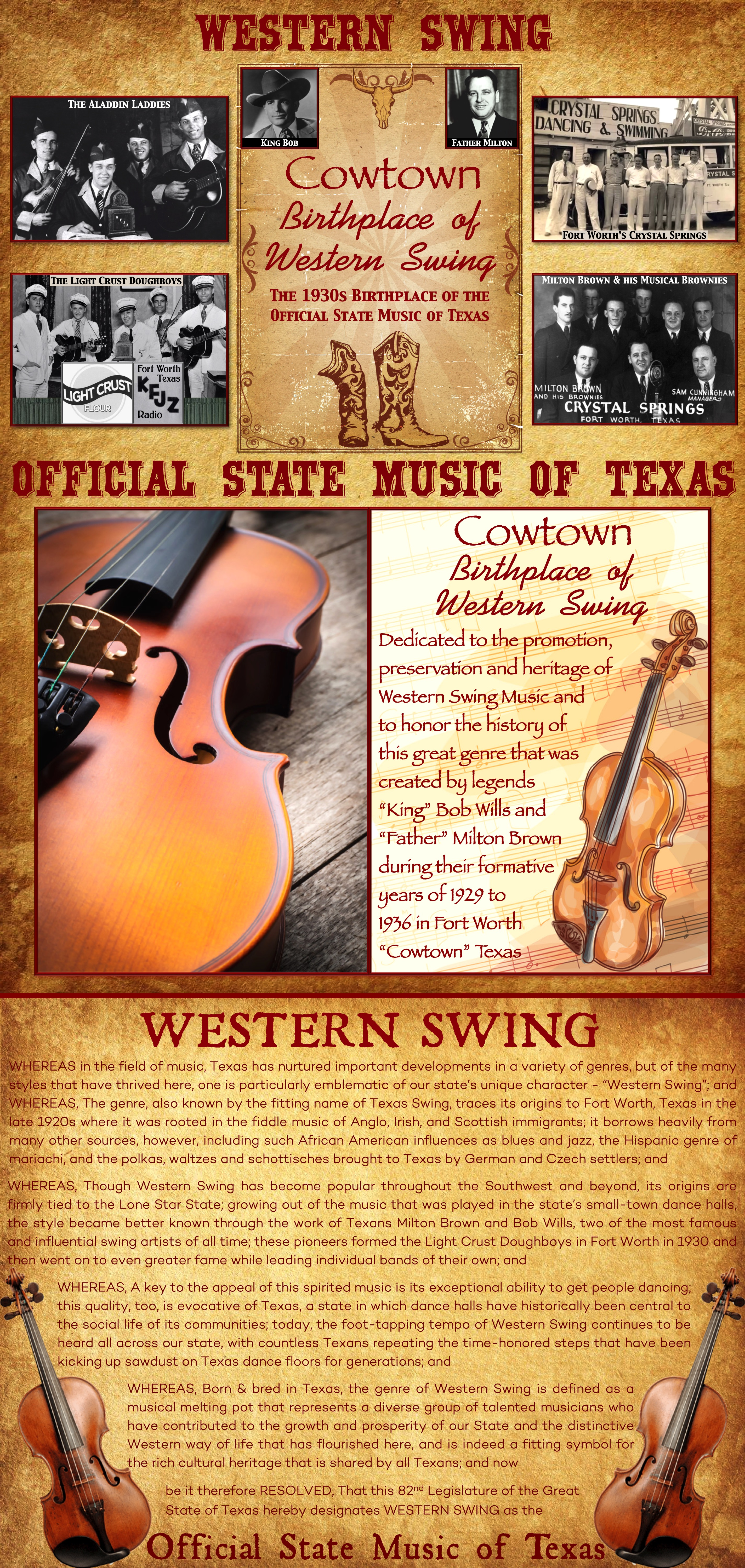 Cowtown Birthplace of Western Swing